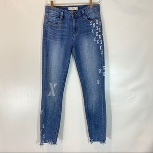 UNPUBLISHED SKINNY CROP PAINTED JEANS SIZE 26